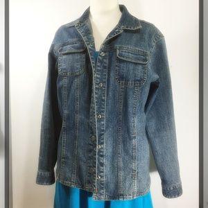 Chico's Size 1 Denim Jeans Jacket